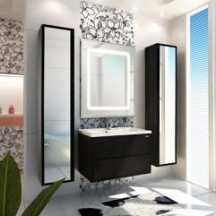 Комплект мебели для ванной Акватон Римини 80 чёрный