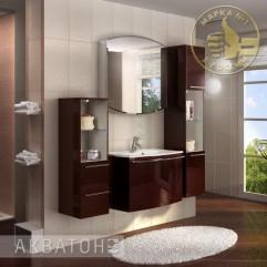 Комплект мебели для ванной Акватон Севилья 80 гранат