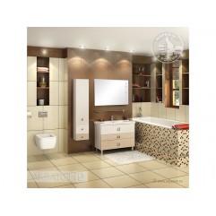 Комплект мебели для ванной Акватон Стамбул 105 эбони светлый