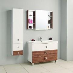 Комплект мебели для ванной Акватон Стамбул 105 эбони темный