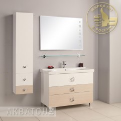 Комплект мебели для ванной Акватон Стамбул 105 сосна ларедо
