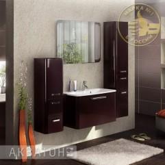 Комплект мебели для ванной Акватон Валенсия 90 гранат