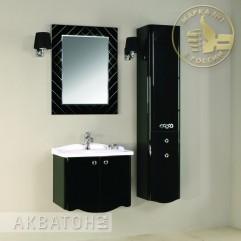 Комплект мебели для ванной Акватон Венеция 65 черный