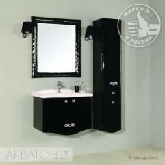 Комплект мебели для ванной Акватон Венеция 75 черный