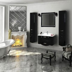 Комплект мебели для ванной Акватон Венеция 90 черный