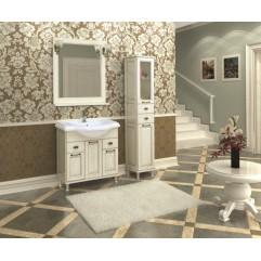 Комплект мебели для ванной Акватон Жерона 105 белое золото