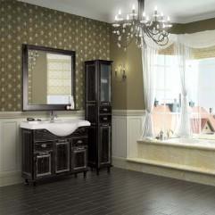 Комплект мебели для ванной Акватон Жерона 105 черное серебро