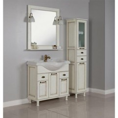 Комплект мебели для ванной Акватон Жерона 85 белое золото