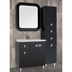Комплект мебели для ванной  Vod-ok Арнелла 80 черный