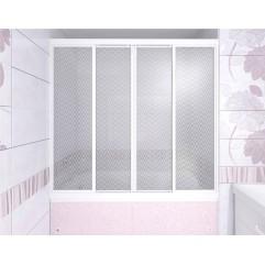 Душевая штора на ванну 2-х створчатая раздвижная 149х140 Метакам КУПЕ