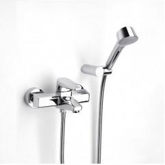 Смеситель для ванны и душа Roca ESMAI c ручным душем Stella 80/3, гибким шлангом 1,50м и поворотным держателем для душа